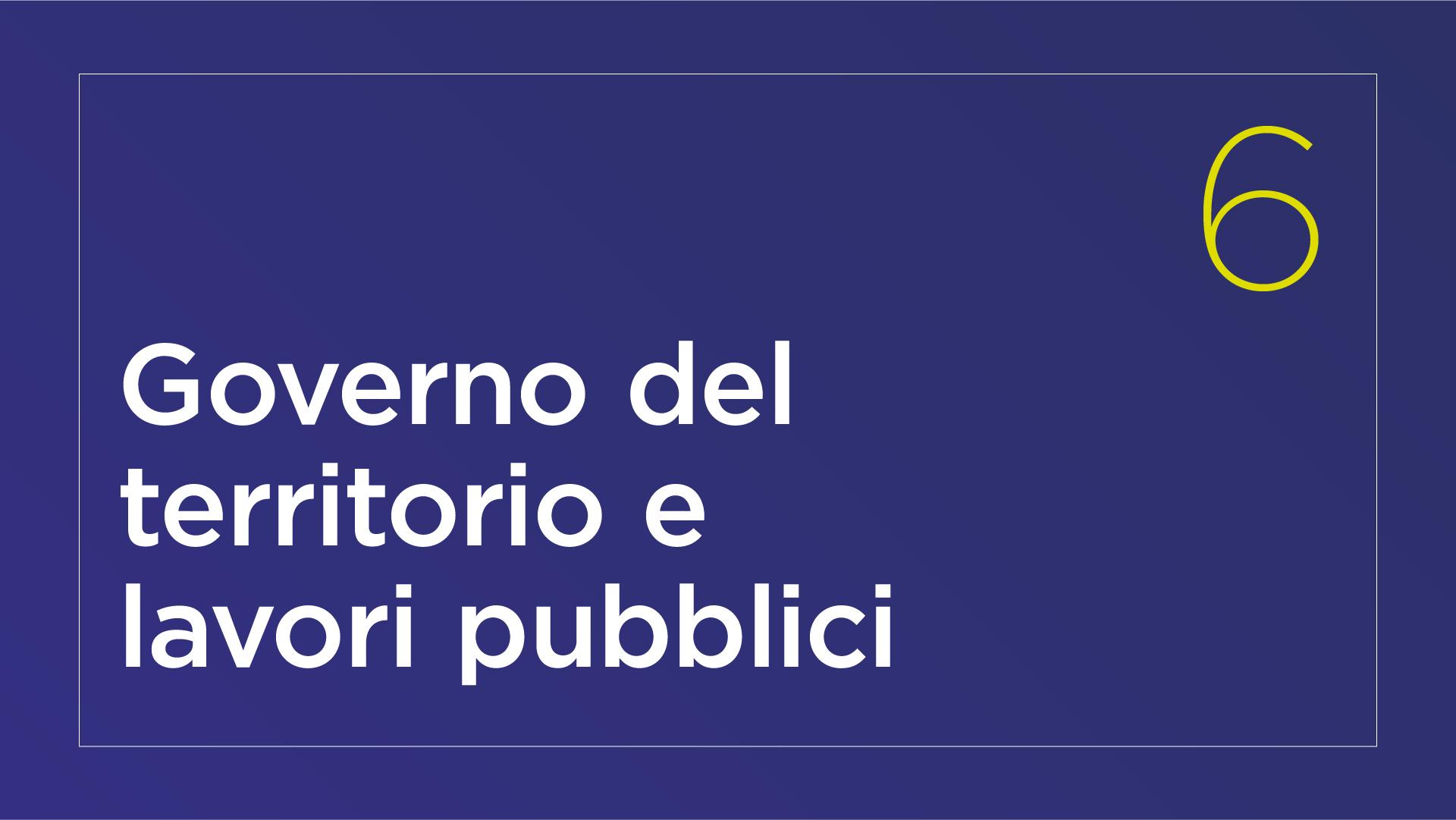 Governo del territorio e lavori pubblici