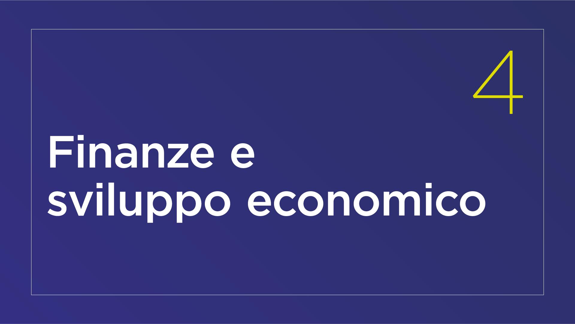 Finanze e sviluppo economico